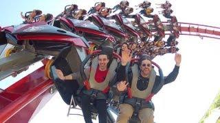 getlinkyoutube.com-X-Flight ridercam on-ride reverse HD POV Six Flags Great America