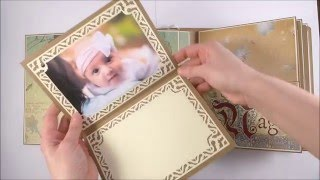 getlinkyoutube.com-Baby Girl Scrapbook Album - Once Upon a Time DCWV