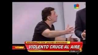 getlinkyoutube.com-Jacobo Winograd se fue a las manos en vivo con Miguel Rizzo: insultos, piñas y sillazos