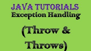 getlinkyoutube.com-Exception Handling in Java Practical Part 5 Throw and Throws