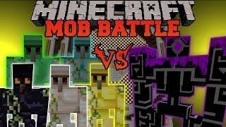 getlinkyoutube.com-DIAMOND, EMERALD, GOLD, OBSIDIAN, AND IRON GOLEM VS ROBO POUNDER - Minecraft Mob Battles - Golem Mod