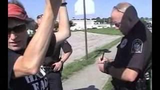 getlinkyoutube.com-Shirley Phelps-Roper arrested at WBC picket of soldier funeral in Bellevue, NE -- Part 1