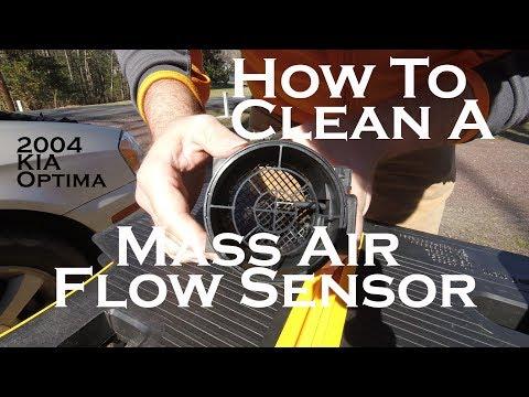 How To Clean A Mass Airflow Sensor - 2004 KIA Optima