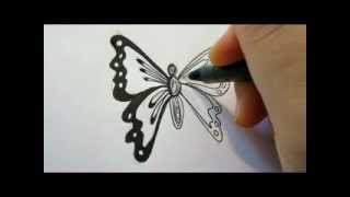 getlinkyoutube.com-How To Draw A Butterfly - The Easy Way