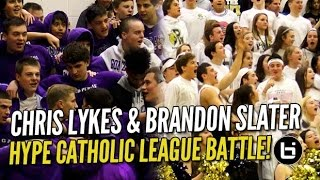 getlinkyoutube.com-Chris Lykes & Brandon Slater BATTLE in HYPE Catholic League Match-Up!