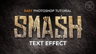 getlinkyoutube.com-Easy Photoshop Tutorial: Smashed Text Effect w/ Rock Texture