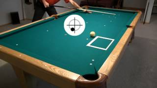 getlinkyoutube.com-Cue Ball Control Target Pool Drill - from Vol-II of the BU instructional DVD series