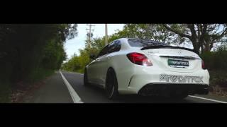 getlinkyoutube.com-Mercedes-Benz C450/C43 4MATIC AMG | Armytrix Valvetronic Exhaust | Brabus Carbon Fiber Diffuser