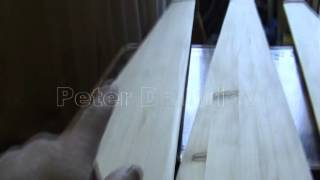 getlinkyoutube.com-Винт из дерева , для ветряка . Blades are made of wood for wind turbines ( часть 3 )