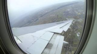 getlinkyoutube.com-ANA B767-300 (JA8569) NH312 is taking off in strong winds at Toyama Airport