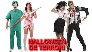 getlinkyoutube.com-Disfraces de Terror en Halloween | Disfraz de Horror