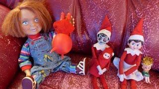 getlinkyoutube.com-Elf on the Shelf vs. Chucky!!!