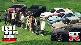 getlinkyoutube.com-GTA 5 Online GTR Car Meet