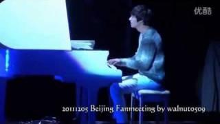 getlinkyoutube.com-111205 Lee Min Ho Beijing FM [fancam]7 - (piano + reading letter)
