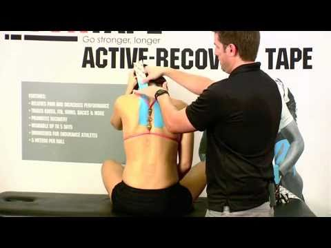 How to tape for Neck Pain or Neck Spasms with RockTape Kinesiology Tape