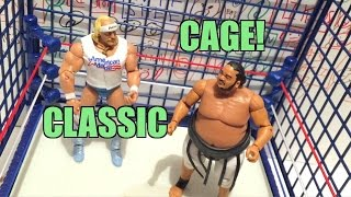 getlinkyoutube.com-WWE ACTION INSIDER: CLASSIC STEEL CAGE Playset! Target Exclusive Wrestling Figure Ring Review