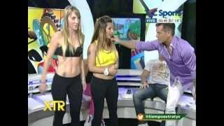 getlinkyoutube.com-Cookie Gym con las chicas del staff de Mario Marinho Lia y Pamela en Tiempo Extra