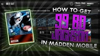 getlinkyoutube.com-Madden Mobile 16 - HOW TO GET THE NEW 99 BO JACKSON | Tips & Tricks on how to get him!