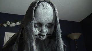 getlinkyoutube.com-Creepy Rising Animatronic Doll - Spirit Halloween