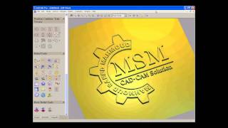 getlinkyoutube.com-MSM-CAD CAM Solution Logo Modeling using ARTCAM