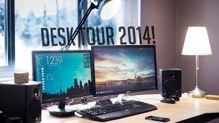 My Desk/Workspace Setup Tour! (Early 2014)