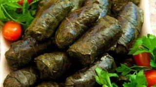 getlinkyoutube.com-Dolmeh recipe dolme (grape leaves meat wrap)