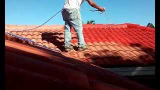 getlinkyoutube.com-Spray Techniques How Painting Roof Tiles Using An Airless Sprayer
