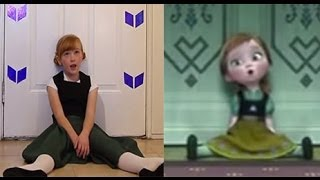 getlinkyoutube.com-Do You Want To Build a Snowman? - Frozen Cover Little Anna In Real Life
