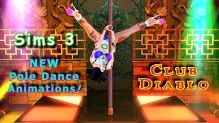 getlinkyoutube.com-Sims 3 Club Diablo returns! New POLE DANCES! Exotic Dance Club Music Video