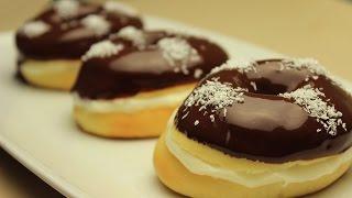 getlinkyoutube.com-Donuts Rezept - Doughnuts aus dem Backofen