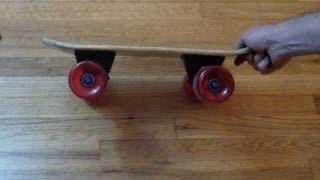 getlinkyoutube.com-World's Smallest Longboard Skateboard