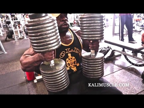 @KaliMuscle Chest Workout w/ 200lb Dumbbell Press