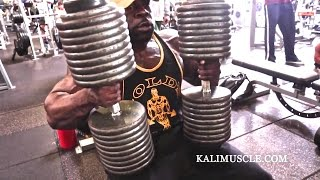 getlinkyoutube.com-Kali Muscle Chest Workout w/ 200lb Dumbbell Press