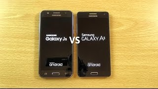 getlinkyoutube.com-Samsung Galaxy J5 VS Galaxy A5 - Speed & Camera Test!
