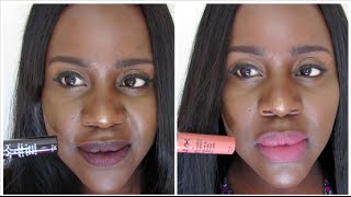 getlinkyoutube.com-NYX SOFT MATTE LIP CREAM: LIP SWATCHES ON DARK SKIN