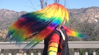 getlinkyoutube.com-How to Dye Hair Extensions Rainbow & VP Fashion Review