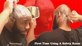 getlinkyoutube.com-Shaving A Bald Head With A Safety Razor + High Time Bump Stopper 2