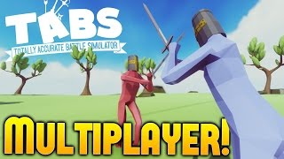 getlinkyoutube.com-Totally Accurate Battle Simulator - Multiplayer Gameplay - IGP vs Draegast - TABS Sandbox Gameplay