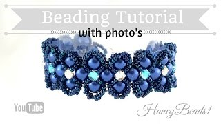 getlinkyoutube.com-Lady Luck Bracelet Beading Tutorial by HoneyBeads1 (Photo tutorial)