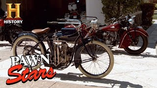 getlinkyoutube.com-Best of Pawn Stars: Collection of Restored Indian Motorcycles | History