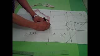 getlinkyoutube.com-تعليم التفصيل بالباترون |الباترون المسطح من اساس كورساج ببنسة صدر