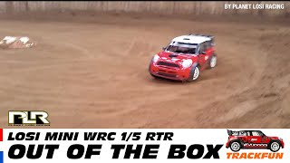getlinkyoutube.com-Losi 5ive Mini WRC RTR - Track run (out of the box)
