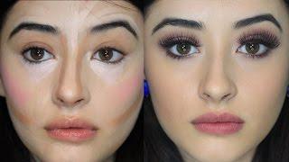 getlinkyoutube.com-Nuevo estilo de maquillaje correctivo | Corrección estilo payaso