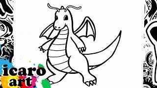 como dibujar a dragonite | how to draw dragonite