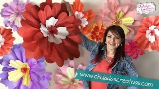getlinkyoutube.com-Flores Gigantes de Papel :: Chuladas Creativas