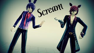 [MMD X FNAF] Scream [Bonnie,Foxy] + DL
