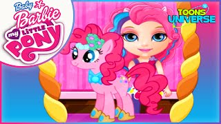 getlinkyoutube.com-Baby Barbie My Little Pony Pinkie Pie Equestria Pets Beauty Pageant Care Game for Girls