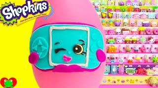 getlinkyoutube.com-Shopkins Gabby Gamer Play Doh Surprise Egg and Limited Edition Hunt