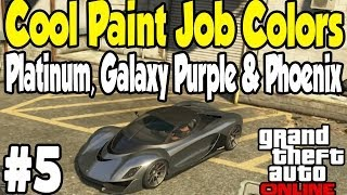 getlinkyoutube.com-GTA Online - COOL PAINT JOB GUIDE #5 (Platinum, Galaxy Purple, & Phoenix) [GTA V Touch Up Tuesday]