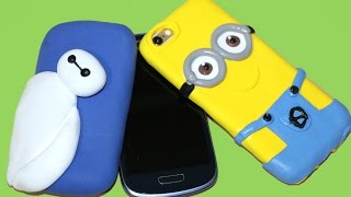 getlinkyoutube.com-DIY Funda para móvil o celular con masa elástica o jumping clay